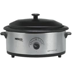 Nescote(R) Stainless Steel Roaster With Non-Stick Cookwell, 6 Quart, Silver