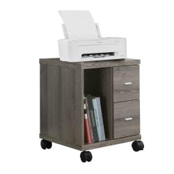 Monarch Specialties Mobile Office Cabinet, Dark Taupe