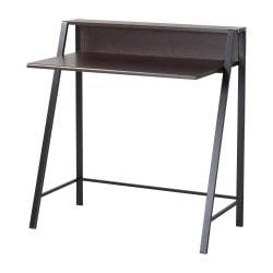 Homestar North America Student Desk With Hutch, FSC(R) Certified, Dark Brown