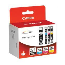 Canon PGI-225 ChromaLife 100+ Black/CLI-226 Color Ink Tanks (4530B008), Pack Of 4