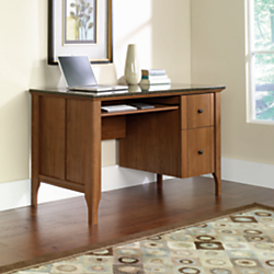 Sauder Appleton Faux Marble Top Computer Desk, 30 7/10in.H x 53 5/32in.W x 23 15/32in.D, Sand Pear