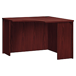 basyx by HON BL Series Corner Unit - 36in. x 42in. x 29in. - Flat Edge - Finish: Mahogany Top, Thermofused Laminate (TFL) Top
