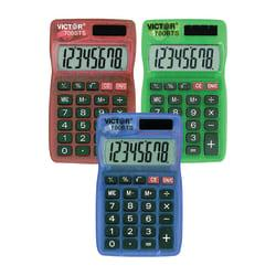 Victor(R) Dual-Power Pocket Calculators, Pack Of 5