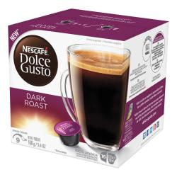 Nescafe Dolce Gusto Dark Roast Coffee Capsules Capsule - Compatible with Majesto Automatic Coffee Machine - Licorice Root, Dark Chocolate, Arabica, Rich Aroma -
