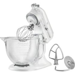 KitchenAid Artisan Design Series 5-Quart Tilt-Head Stand Mixer with Glass Bowl