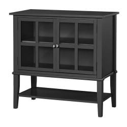 Ameriwood(TM) Home Franklin 2-Door Storage Cabinet, 2 Shelves, Black