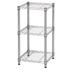 Honey-Can-Do Urban Steel Adjustable Storage Shelving Unit, 3-Tiers, Chrome