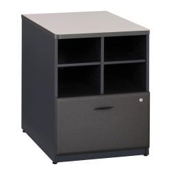 Bush(R) Office Advantage 24in. Storage Cabinet, 29 7/8in.H x 23 5/8in.W x 23 3/8in.D, White Spectrum/Slate, Standard Delivery Service