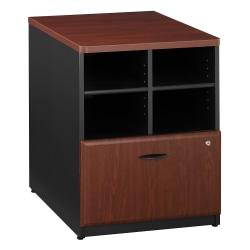 Bush Business Furniture Office Advantage Storage Cabinet, 24in.W, Hansen Cherry/Galaxy, Standard Delivery