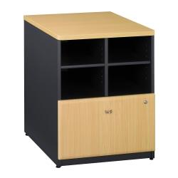Bush Business Furniture Office Advantage Storage Cabinet, 24in.W, Beech/Slate, Standard Delivery