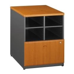 Bush Business Furniture Office Advantage Storage Cabinet, 24in.W, Natural Cherry/Slate, Premium Installation