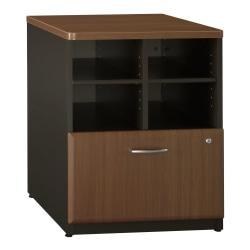 Bush Office Advantage 24in. Storage Cabinet, 29 7/8in.H x 23 5/8in.W x 23 3/8in.D, Sienna Walnut, Standard Delivery Service