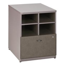Bush(R) Office Advantage 24in. Storage Cabinet, 29 7/8in.H x 23 5/8in.W x 23 3/8in.D, Spectrum/Pewter, Premium Installation Service