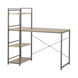 Homestar North America Desk With 4-Shelf Bookcase, FSC(R) Certified, Natural