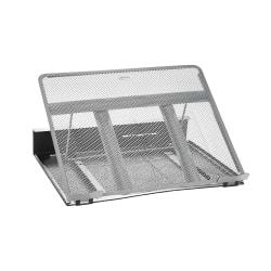 Rolodex (R) Mesh Workspace Laptop Stand, Black/Silver