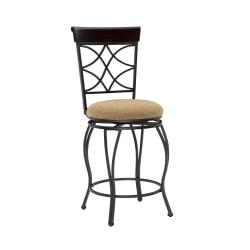 Linon Home Decor Products Curves Counter Stool, Multicolor