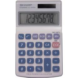 Sharp Calculators EL-240SAB 8-Digit Handheld Calculator - 3-Key Memory, Sign Change, Auto Power Off - 8 Digits - LCD - Battery/Solar Powered - 1 - LR1130 - 0.7i