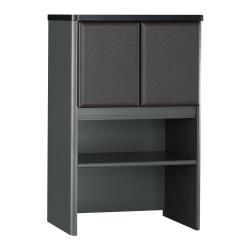 Bush(R) Office Advantage 24in. Storage Hutch, 36 1/2in.H x 23 5/8in.W x 13 7/8in.D, White Spectrum/Slate, Standard Delivery Service