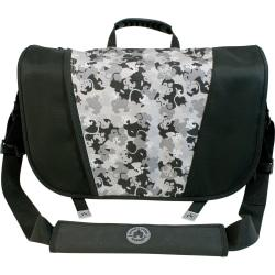 Deals Mobile Edge 16in. PC/17in. Mac Sumo Messenger Bag – Black/ Silver Before Too Late