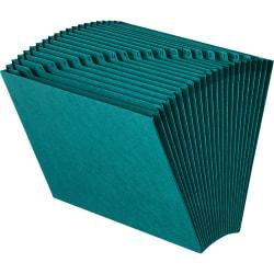 Smead(R) Expanding File With 21 Pockets, 7/8in. Expansion, Letter Size, Teal