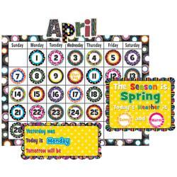 Teacher Created Resources Calendar Bulletin Board Set, 24in. x 18in., Fancy Circles, Pre-K - Grade 8