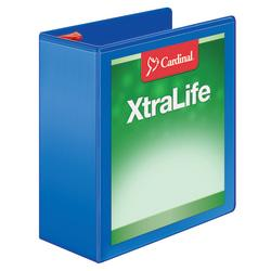 Cardinal(R) XtraLife(R) Locking Slant-D(R) Ring Binder, 4in. Rings, 52% Recycled, Blue