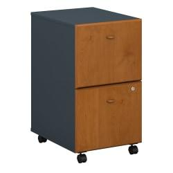 Bush Business Furniture Office Advantage 2 Drawer Mobile File Cabinet, Natural Cherry/Slate, Standard Delivery