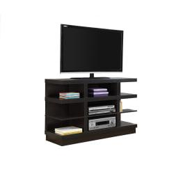 Monarch Specialties TV Stand, Open Concept, For Flat-Panel TVs Up To 48in., Cappuccino