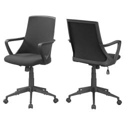 Monarch Specialties Office Chair, Black