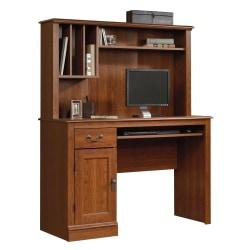 Sauder(R) Camden County Computer Desk With Hutch, Planked Cherry