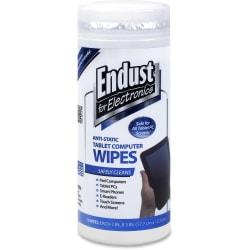 Endust Anti-Static Tablet Wipes 70ct. - For Tablet PC, Desktop Computer, Display Screen, Mobile Phone, Digital Text Reader, Handheld Device - Streak-free, Non-a