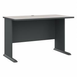Bush Business Furniture Office Advantage Desk 48in.W, Slate/White Spectrum, Standard Delivery