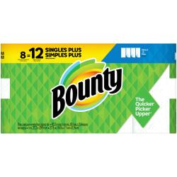 Bounty Select-A-Size 2-Ply Paper Towels, 11in. x 5 15/16in., White, Pack Of 8 Giant Rolls