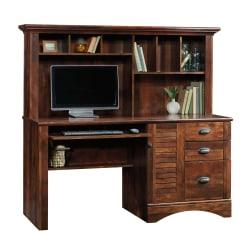 Sauder(R) Harbor View Collection Computer Desk With Hutch, Curado Cherry