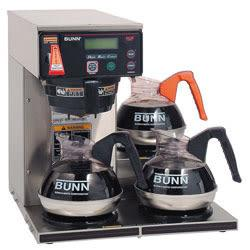 BUNN 12-cup Dgtl 3-Wrmr Commercial Brewer - Programmable - 1800 W - 1.56 gal - 12 Cup(s) - Stainless Steel, Black - Plastic, Steel