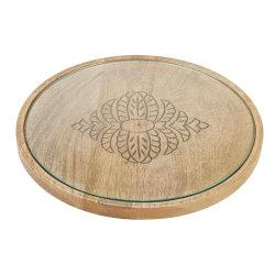 Mind Reader Bamboo Round Cheese Serving Tray, Brown