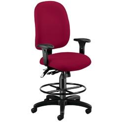 OFM Ergonomic Task Chair With Drafting Kit, Wine