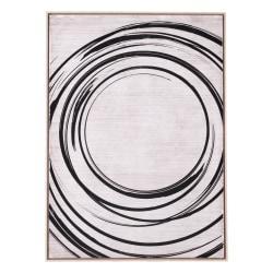 Zuo Modern Anillos Canvas Art, Black/Cream