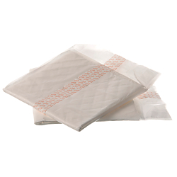 Medline Contoured Incontinence Liners, 7in. x 17in., 20 Liners Per Bag, Case Of 12 Bags