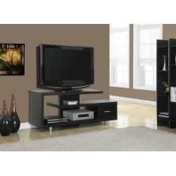 Monarch Specialties Art Deco TV Stand For TVs Up To 60in., Cappuccino