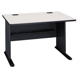 Bush Business Furniture Office Advantage Desk 48in.W, Slate/White Spectrum, Premium Installation