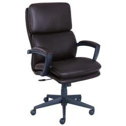 Serta Style Morgan High-Back Office Chair, Bonded Leather, Chestnut/Black