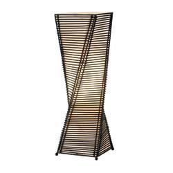 Adesso(R) Stix Desk Lamp, 24 1/2in., Black/Beige