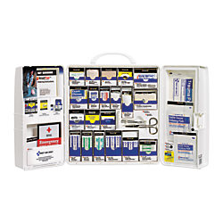 First Aid Only(TM) SmartCompliance Large First Aid Cabinet, 14in.H x 4 1/8in.W x 13in.D