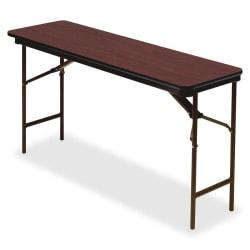 Iceberg Premium Wood Laminate Folding Table, Rectangular, 29in.H x 72in.W x 18in.D, Mahogany\/Brown