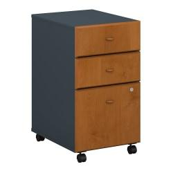 Bush Business Furniture Office Advantage 3 Drawer Mobile File Cabinet, Natural Cherry/Slate, Premium Installation