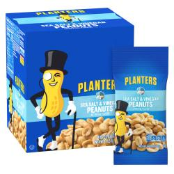 Planters Sea Salt And Vinegar Peanuts, 2.25 Oz, 10 Pouches Per Box, Pack Of 3 Boxes