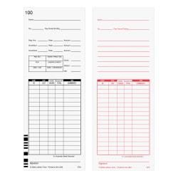 Lathem Time Cards, F/7000E, Numbered 1-100, 2-Sided, 3 3/8in. x 9in., White, Pack Of 100