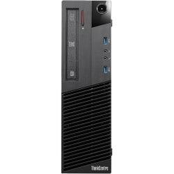 Lenovo ThinkCentre M93p 10A8000VUS Desktop Computer - Intel Core i7 i7-4770 3.40 GHz - Small Form Factor - Business Black