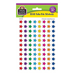 Teacher Created Resources Mini Stickers, 3/8in., Smiley Stars, Pre-K - Grade 12, Pack Of 1,144